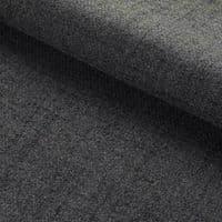 Arran Wool Look A Like Tweed Fabric Material - CHARCOAL